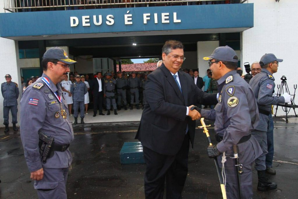 Flávio Dino empossa coronel Ismael como novo comandante da Polícia Militar do Maranhão