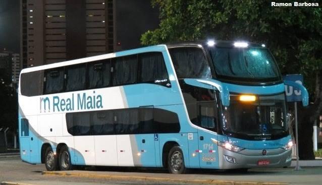 Photo of Ônibus da empresa Real Maia pega fogo na BR-135 no Maranhão