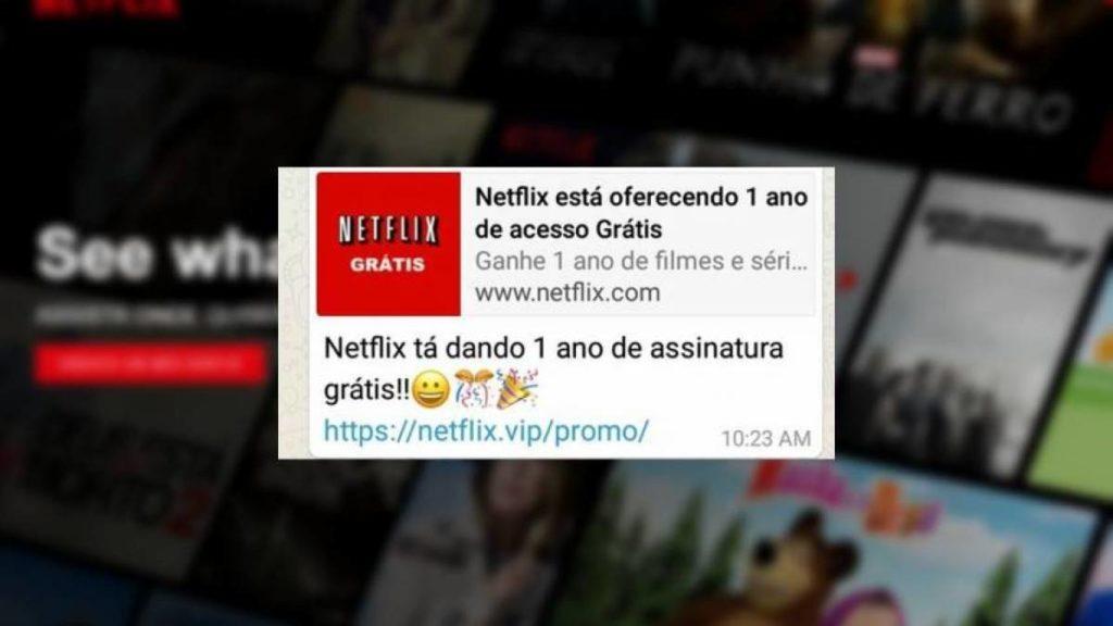 Golpe promete Netflix grátis por causa de coronavírus e atinge 1 milhão
