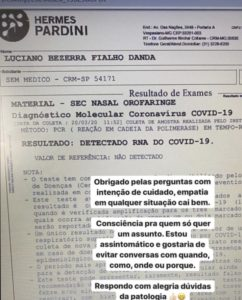 Médico que veio de SP para Imperatriz tem resultado positivo para coronavírus; nono caso no Maranhão