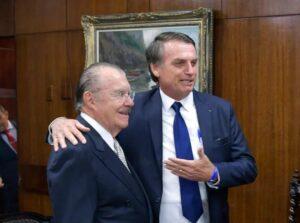 Com medo da CPI da Covid, Bolsonaro procura Sarney e tenta melhorar relação com o MDB