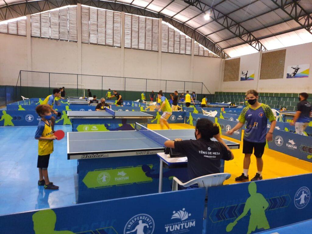Tuntum realiza Circuito Estadual de Tênis de Mesa