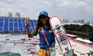 Aos 13 anos, maranhense Rayssa Leal faz história e conquista medalha de prata nas olimpíadas